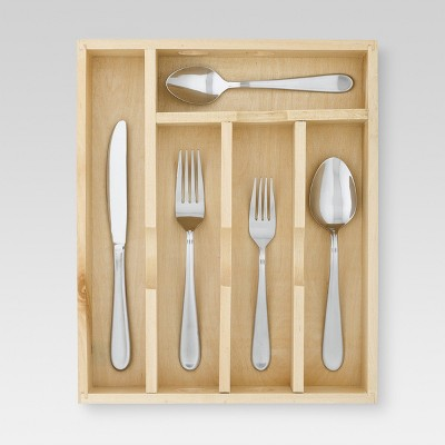45pc Stainless Steel Almiqua Silverware Set With Caddy - Threshold™