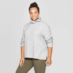 Women's Plus Size Turtleneck Sweatshirt - Ava & Viv™