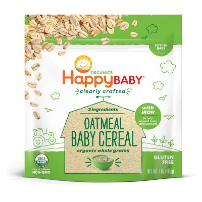 HappyBaby Oatmeal Baby Cereal - 7oz
