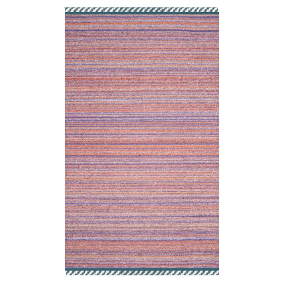 Purple/Rust Stripe Woven Area Rug 5'X8' - Safavieh, Purplenrust