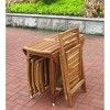 Acacia Folding Dining Chairs Set of 4 - Merry Products - image 4 of 4