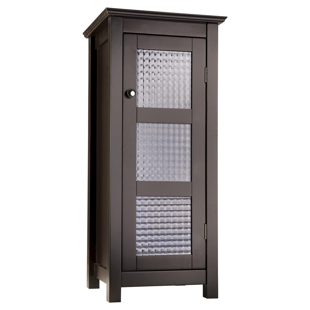 Image of Chesterfield 1 Door Floor Cabinet Dark Espresso - Elegant Home Fashions