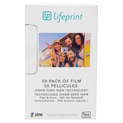LifePrint Glossy Photo Paper - 2  x 3  50pk - White