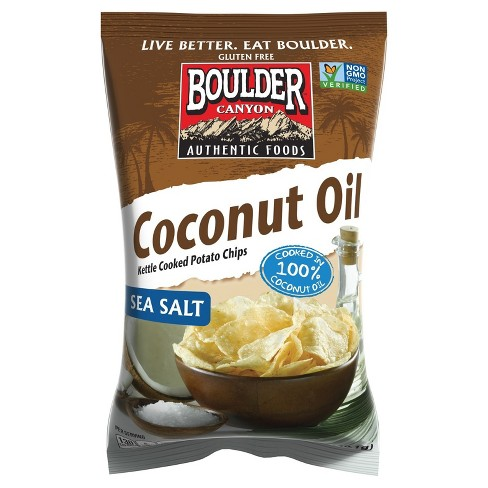 Boulder Canyon Sea Salt Kettle Cooked Coconut Oil Potato Chips - 5.25oz - image 1 of 1