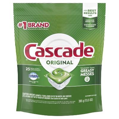 Cascade ActionPacs Fresh Scent Dishwasher Detergent - 25ct
