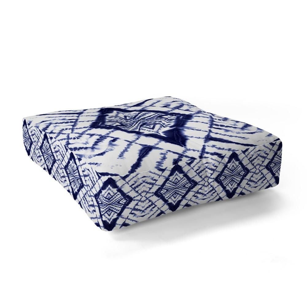 "Image of ""23""""x23"""" Jacqueline Maldonado Diamond Floor Pillow Blue - Deny Designs"""