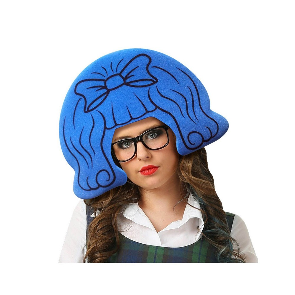 Image of Women's Schoolgirl Halloween Wig, Blue
