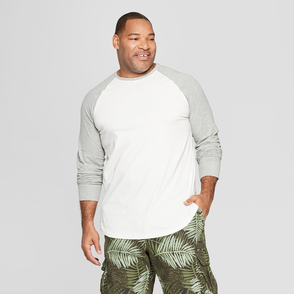 Mens Big Tall Standard Fit Long Sleeve Baseball T Shirt