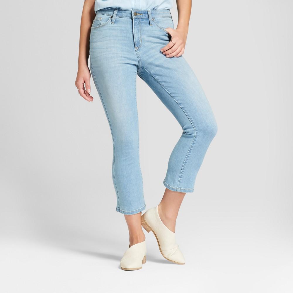 Women's High-Rise Kick Bootcut Crop Jeans - Universal Thread Medium Wash 16, Blue