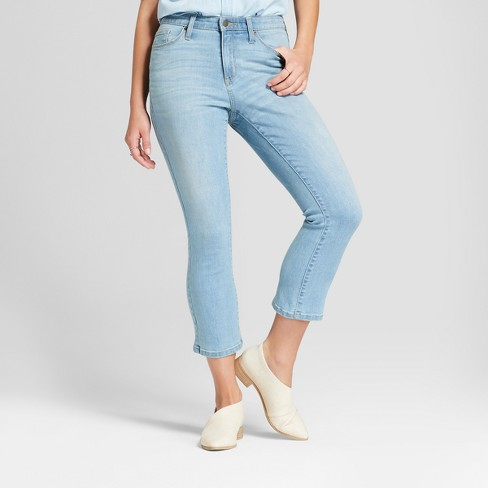Women's High-Rise Kick Bootcut Cropped Jeans - Universal Thread™ Medium Wash 2 - image 1 of 3