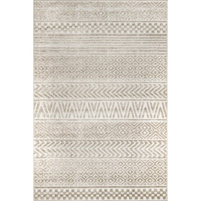nuLOOM Kamryn Raised Tribal Bands Indoor/Outdoor Area Rug