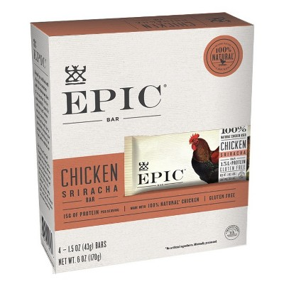 EPIC Chicken Sriracha Nutrition Bar - 6oz 4ct