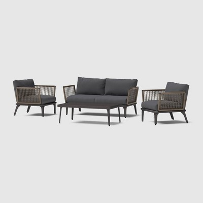 Pathra 4pc Wicker Seating Set - RST Brands