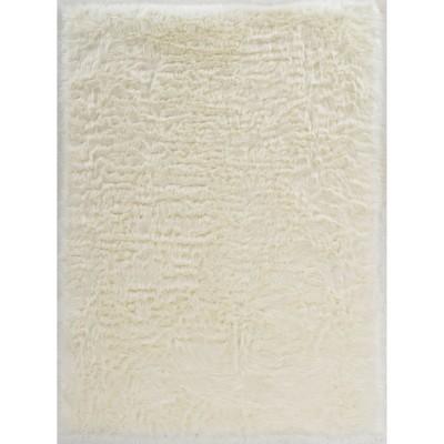 5'x7' Faux Sheepskin Area Rug White - Linon