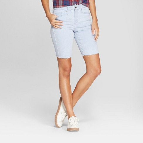 Women's High-Rise Bermuda Jean Shorts - Universal Thread™ Gray Wash - image 1 of 3