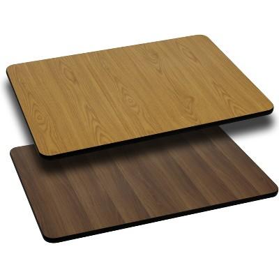Flash Furniture 30'' x 60'' Rectangular Table Top with Reversible Laminate Top