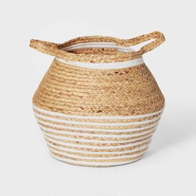 Large Water Hyacinth and Coiled Rope Storage Bin - Pillowfort™