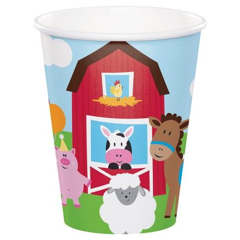 8ct Farm Fun Cups - image 1 of 2