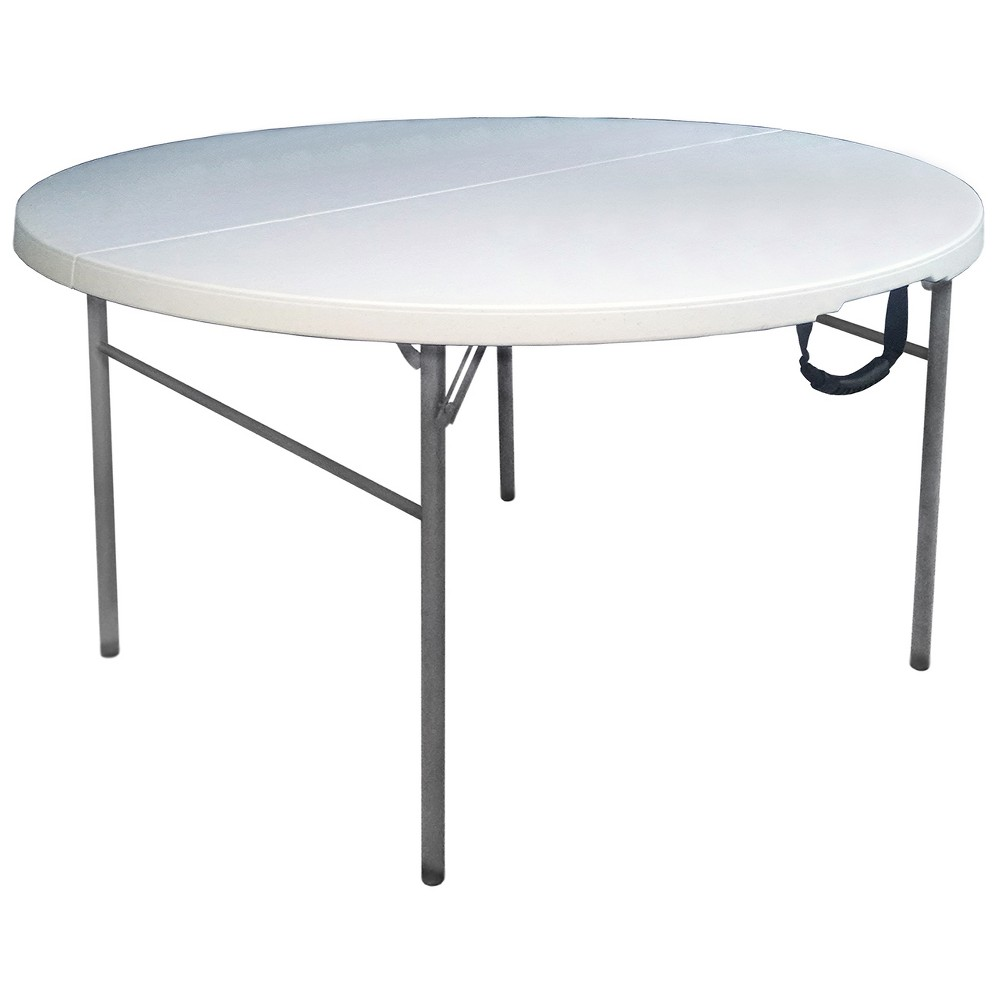 "Image of ""60"""" Round Folding Table Off-White - Plastic Dev Group, Beige"""