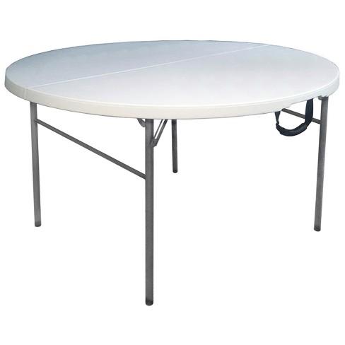 Surprising 60 Round Folding Table Off White Plastic Dev Group Ncnpc Chair Design For Home Ncnpcorg