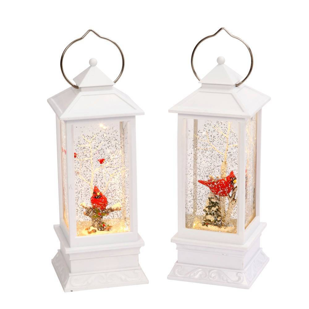 Image of 2ct Snow Globe Lanterns - Gerson International, White