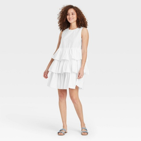 Women's Sleeveless Multi Tiered Dress - Who What Wear™ - image 1 of 3