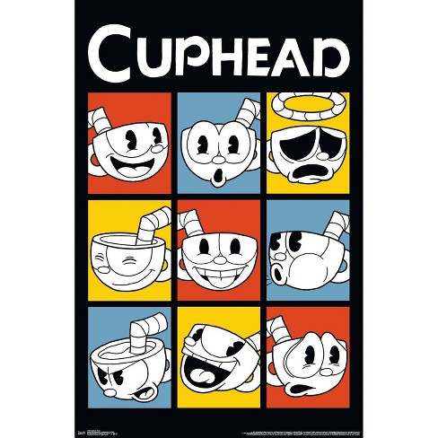 """34""""x23"""" Cuphead Faces Unframed Wall Poster Print - Trends International - image 1 of 2"""