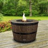 Propane/Natural Gas Wine Barrel Fire Pit Brown - Sunbeam - image 4 of 4