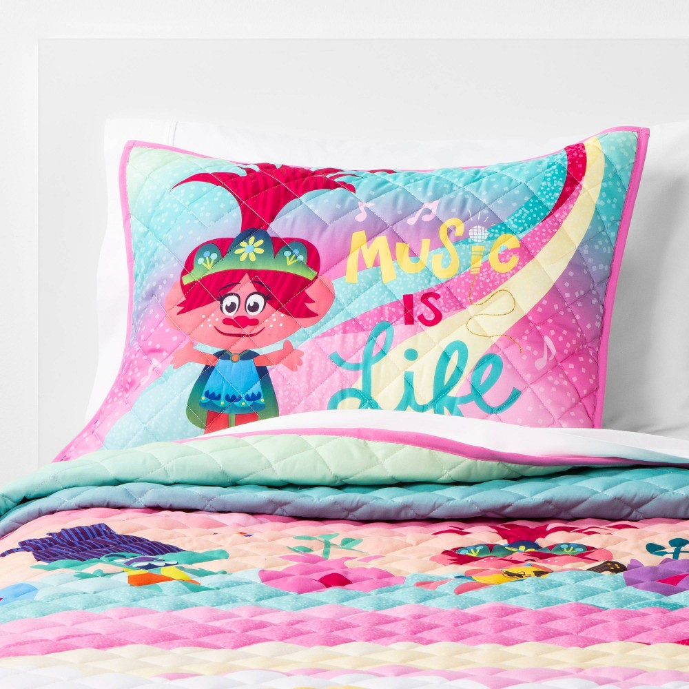 Image of Full/Queen Trolls World Tour Trolls in Harmony Quilt