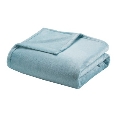 Microlight Plush Blanket (Full/Queen)Sterling Blue