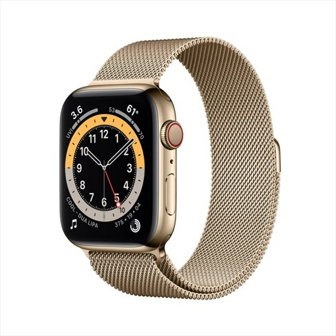 Apple Watch Series 6 GPS + Cellular Stainless Steel with Milanese Loop - image 1 of 4