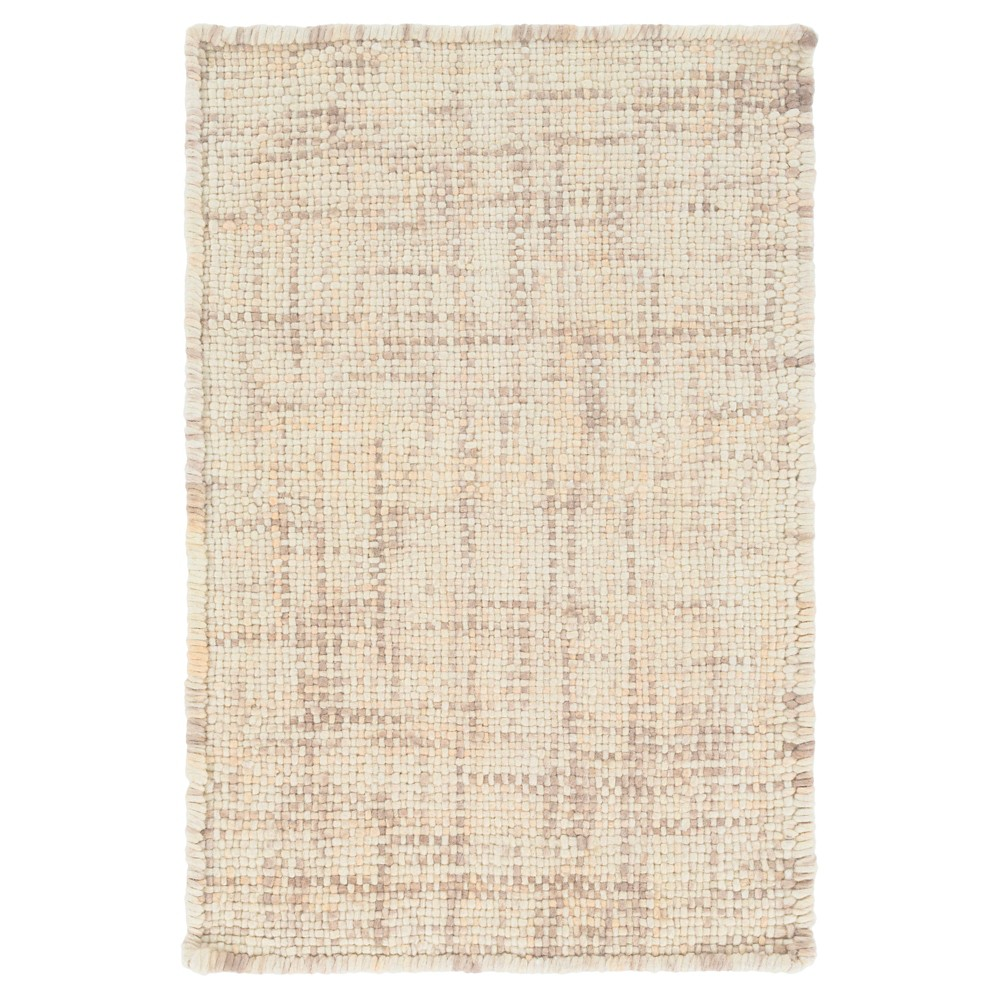 Beige Solid Woven Accent Rug (2'x3') - Surya