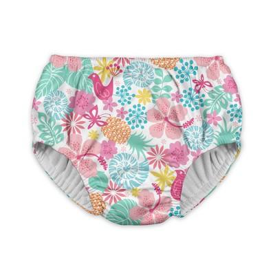Baby Girls' Tropical Medley Reusable Swim Diaper - White 6M - i play.