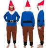 FUNZIEZ! - Garden Gnome Slim Fit Adult Unisex Novelty Union Suit - image 2 of 4