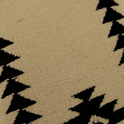 """18""""x18"""" Textured Southwestern Striped Throw Pillow Ivory/Black - Rizzy Home : Target"""