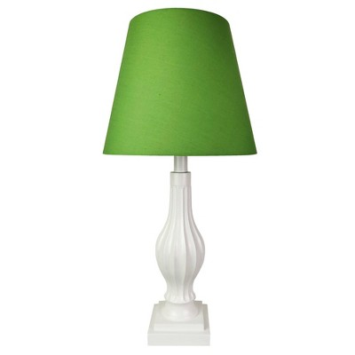 "22"" Polyresin Table Lamp with Silk Shade - Creative Motion Industries"
