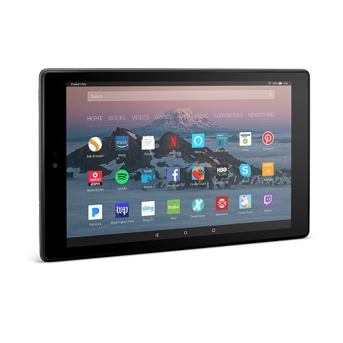 "Amazon Fire HD 10 Tablet with Alexa Hands-Free, 10.1"" 1080p Full HD Display, Black - with Special Offers - image 1 of 2"
