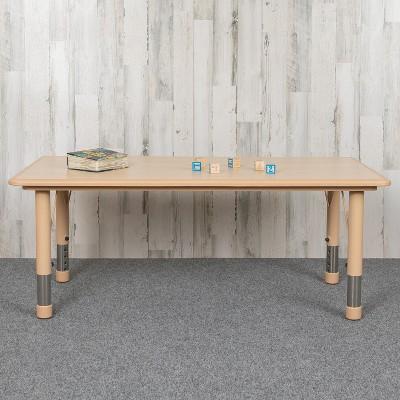 "Flash Furniture 23.625""W x 47.25""L Rectangular Plastic Height Adjustable Activity Table"