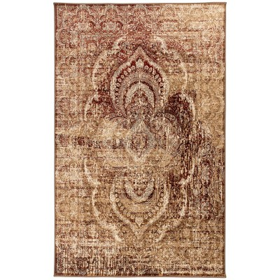 Contemporary Floral Medallion Indoor Area Rug or Runner - Blue Nile Mills