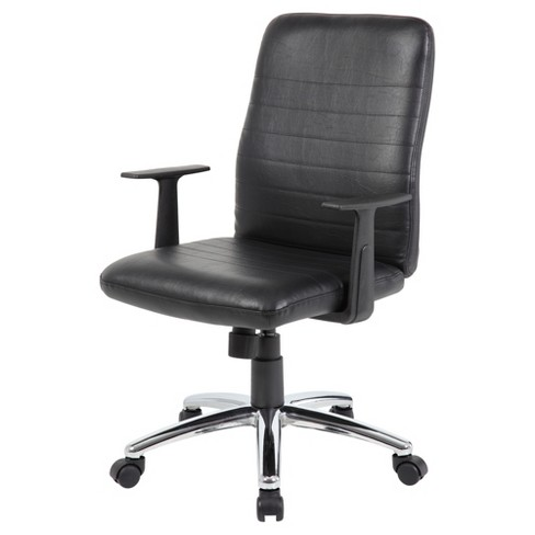 Retro Task Chair with Arms Black - Boss - image 1 of 4