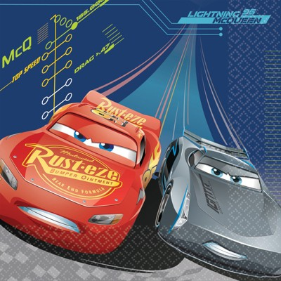 Birthday Express Disney Cars 3 Lunch Napkins - 16 Pack