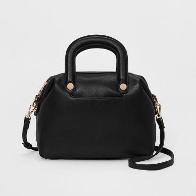 a3068e3deeff Trapunto Handle Satchel Handbag – A New Day™ Black – Target ...