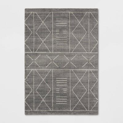 "7'9""x9'9"" Marina Modern Geometric Rug Gray - Project 62™"