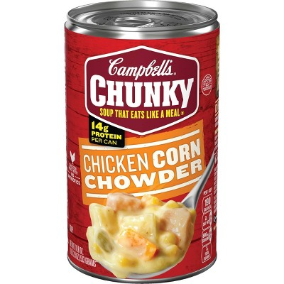 Campbell's Chunky Chicken Corn Chowder Soup - 18.8oz