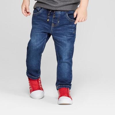 Toddler Boys' Cozy Pull-On Skinny Jeans - Cat & Jack™ Denim Blue 12M