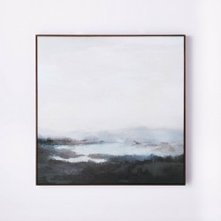 "36"" x 36"" Dreary Abstract Landscape Framed Wall Canvas - Threshold™ designed with Studio McGee"