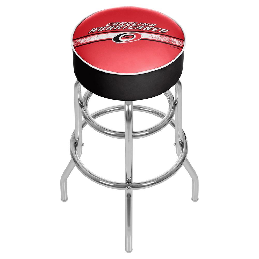 NHL Carolina Hurricanes Chrome Bar Stool with Swivel