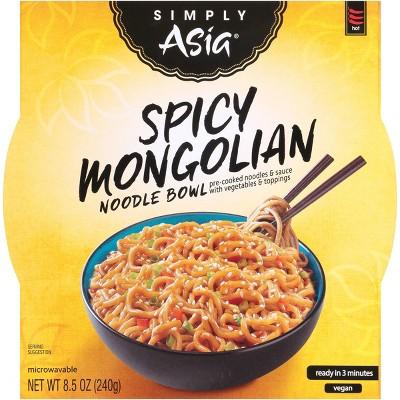 Simply Vegan Asia Spicy Mongolian Noodle Bowl - 8.5oz