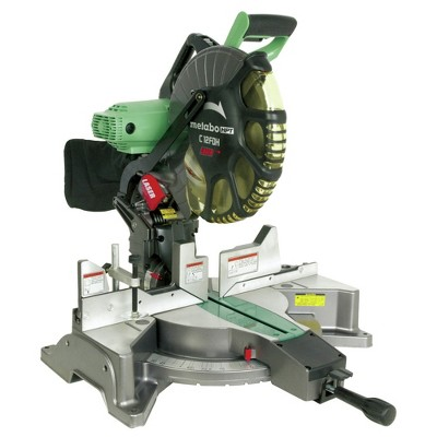 Metabo HPT C12FDHS 15 Amp Dual Bevel 12 in. Corded Miter Saw with Laser Guide