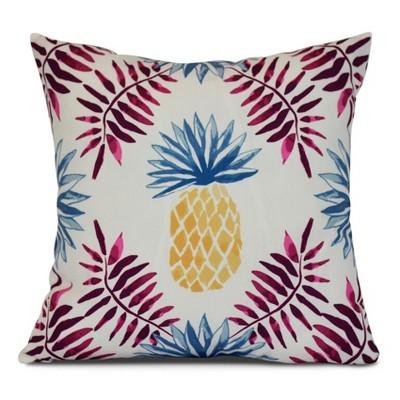 Pineapple And Spike Geometric Print Pillow